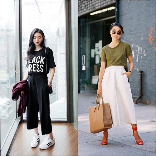 Những cách mix đồ với áo thun theo xu hướng thời trang 2018