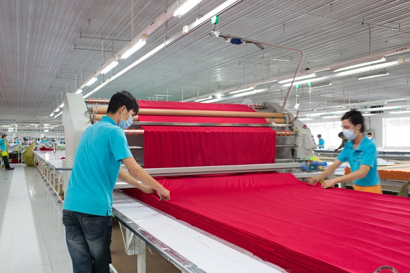 Quy trình may đồng phục công ty tại xưởng may đồng phục của Sao Việt phần 1